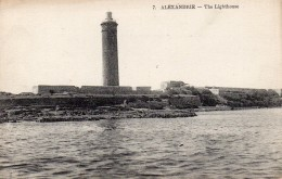 Postcard - Alexandria Lighthouse, Egypt. 7 - Lighthouses