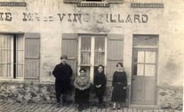 - Rare Carte-Photo -animée Devanture Café Md De VINS-BILLARD - Te Identificeren