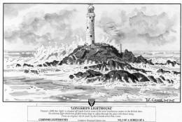 Greetings Card - Longships Lighthouse. 3 - Lighthouses