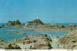 Postcard - La Corbiere Lighthouse, Jersey. ACG125 - Lighthouses