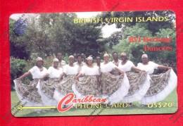 """BRITISH VIRGIN ISLANDS: BVI-103G """"BVI Heritage Dancers ET"""" CN:103CBDG. Rare (5.500ex). (1997)"""