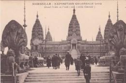 Cp , 13 , MARSEILLE , Exposition Coloniale 1922 , Grand Palais De L'Indochine (Allée Centrale ) - Expositions Coloniales 1906 - 1922
