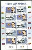 Uruguay 2016 ** M/P 100 Años De La Copa América. Banderas.  See Desc.