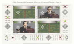 SAN MARINO 1995 - INVENZIONE DELLA RADIO - NUOVO   AB 38/3 - Ongebruikt