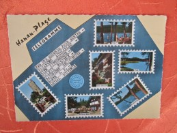 HANAU PLAGE . STYLE TELEGRAMME . DECO TIMBRES POSTES - Other Municipalities