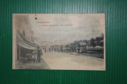 CARTOLINA GUIDIZZOLO SCUOLE E FERROVIA  - BOLLO TONDO RIQUADRATO - 1902 ? - Ecoles