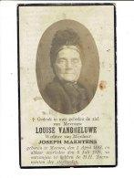 1063 - LOUISE VANGHELUWE - MENEN 1843 + 1929 - Santini