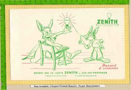 Buvard & Blotting Paper : La Lampe ZENITH  : AIX EN PROVENCE  Super Graphisme Lapin - Electricité & Gaz