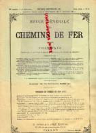 REVUE GENERALE CHEMINS DE FER ET TRAMWAYS- TRAMWAY- JUIN1913- N° 6- DECAUVILLE-FONDERIE JEUMONT 59-SCHWARTZKOPFF-SNCF - Books, Magazines, Comics