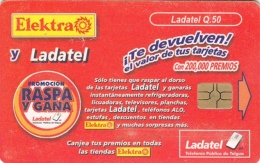 T187 - Guatemala, Phonecard, Ladatel, Q 50, Used, 2 Scans - Guatemala