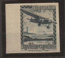 1939 Avion En Vuelo Edifil NE38s** VC 95,00€ - 1931-50 Nuevos & Fijasellos
