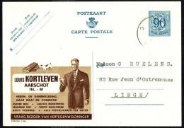 "CP Public. N° 1106  "" Louis KORTLEVEN, Aarschot "" - Circulé / Circulated - 1952. - Publibels"