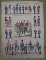 Imagerie D'Epinal - ETAT-MAJOR ANGLAIS - Planche D'uniforme Par Pellerin & Cie à Epinal - N°580 - Stampe & Incisioni