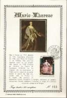 "BELG.1972 1656 FDC Fr.Carte D'or/soie N°122 ""Keizerin Maria-Teresia/""Impératrice Marie-Thérèse"" - 1971-80"