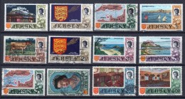 Jersey Small Selection Of Definitive Stamps From 1969-70 - Zambia (1965-...)