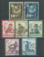 PAYS-BAS: Obl., N°547 à 553, TB - Gebraucht