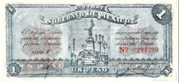 Mexico - Pick S881 - 1 Peso 1915 - AUnc - ESTADO LIBRE Y SOBERANO - Messico