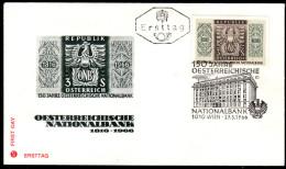 ÖSTERREICH 1966 - 150 Jahre Nationalbank - Sonderstempel FDC - Coins