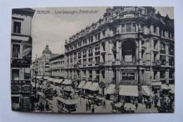 Berlin , 1910; Ecke Leipziger  Und Friedrichstr. , Kutschen, Doppeldeckerbus - Otros