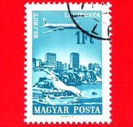 UNGHERIA - Usato - 1966 - Aereo Su Città Servite Dalla Compagnia Ungherese - Beirut - 1 - P. Aerea - Posta Aerea
