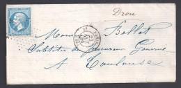 PARIS - N°  22 Oblitéré étoile  + Cachet  PARIS  2e Sur Lettre De 1866 - Marcophilie (Lettres)