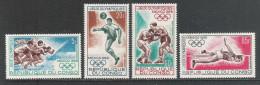 REPUBLIQUE DU CONGO - 1968 - 4 Valori Nuovi S.t.l. Di P.A. Dedicati Ai Giochi Olimpici Di Messico- In Ottime Condizioni. - Sommer 1968: Mexico