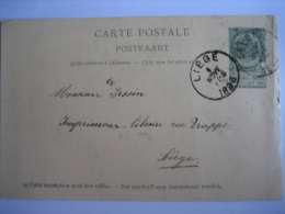 Entier Postal Armoiries BELOEIL 1896 Vers LIEGE - Signé E. EMPAIN - Enteros Postales