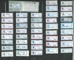 Vojvodina ( Serbia ) In Yugoslavia Lot 60 Different R-Zettel ( R-List ).1988 - 1989.2 Scans - Serbia