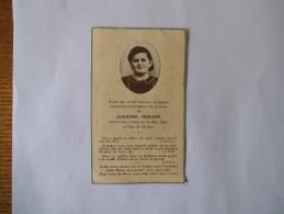 IMAGE MORTUAIRE DE SUZANNE HUSSON RETOURNEE A DIEU LE 14 MAI 1941 A L'ÂGE DE 16 ANS - Andachtsbilder