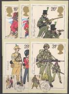 Great Britain 1983 British Army 5v 5 Maxicards  (30422) - Maximumkaarten