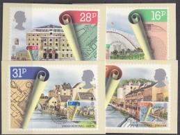 Great Britain 1984 Urban Renewal 4v 4 Maxicards (30425) - Maximumkaarten