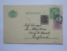 SWEDEN 1912 POSTCARD LUND TO ENGLAND - Suède