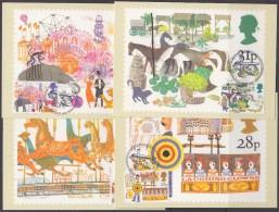 Great Britain 1983 British Fairs 4v 4 Maxicards (30427) - Maximumkaarten