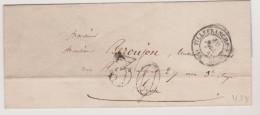 (4328) France Villefranche Sur Mer Percurseur Vers Lyon 1854  - Marcophilie (Lettres)