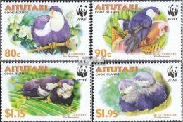 Serie Set Oiseau Perroquets Birds Parrots   Neuf  MNH **  Aitutaki 2002 - Aitutaki