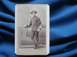 Photo CDV  V. Coué à Saumur - Militaire Cavalier Instructeur école De Cavalerie Circa 1875 L261 - Photos