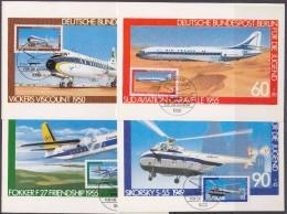 Berlin 1980 Airplanes/Für Die Jugend 4v 4 Maximum Cards (30434) - [5] Berlijn