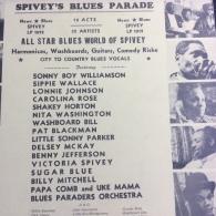 Spivey's Blues Parade (16 Titres-18 Artiste) S.B. Williamson-Sugar Blue- Lonnie Johnson ...) Vinyle - Blues