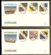 1989 - Rep. Surinam FDC E131AB - Antique And Modern Cars [D13_084] - Surinam