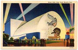 Music Hall, NEW  YORK World's Fair ( Etats Unis ) - Expositions