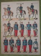 Imagerie D'Epinal - ETAT-MAJOR - Planche D'uniforme Par Pellerin & Cie à Epinal - N°6(1) - Stampe & Incisioni