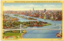 Triborough Bridge, Looking East River Drom Over Hellgayte, NEW YORK CITY  ( Etats Unis ) - Ponts & Tunnels