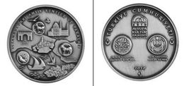 AC - EUROPEAN CAPITAL OF CULTURE ISTANBUL COMMEMORATIVE SILVER PLATED BRONZE COIN 2010 TURKEY UNCIRCULATED - Turquie