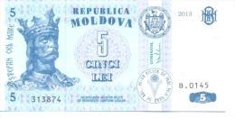 2013. Moldova, 5 Leu 2013, P-9, UNC - Moldavie
