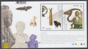 Canada Royal Ontario Museum ROM Buddha Sculpture Nude Dinosaur Buffalo Bat  Souvenir Sheet Block MNH 2014 A04s - Full Sheets & Multiples