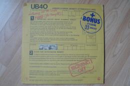 UB 40 - Signing Off - 33T - 1980 (Album + Disque Bonus) - Reggae