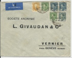 IRAK - 1937 - ENVELOPPE AIRMAIL De BAGHDAD Pour VERNIER (SUISSE) - Iraq