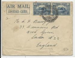 IRAK - 1929 - ENVELOPPE AIRMAIL BAGHDAD - LE CAIRE Pour LONDON - Iraq