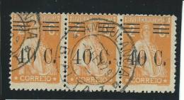 PORTUGAL: Obl., N°470 X 3, Bande, TB - 1910-... Republik