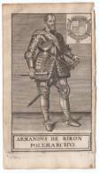 1668 - Gravure Sur Bois - Armand De Gontaut-Biron (1524 - Epernay 1592) Maréchal De France - FRANCO DE PORT - Prints & Engravings